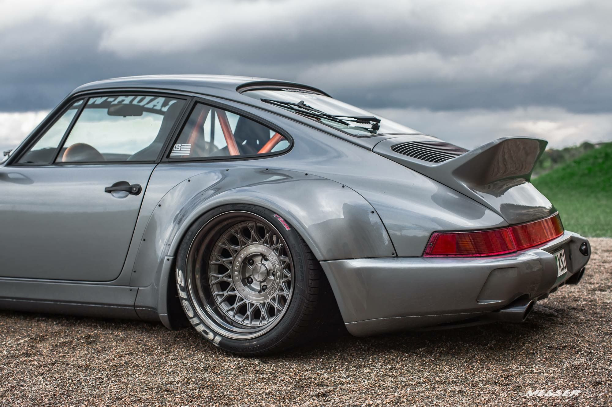#Porsche_964 #RWB #Messer_Wheels #WideBody #Slammed # ...