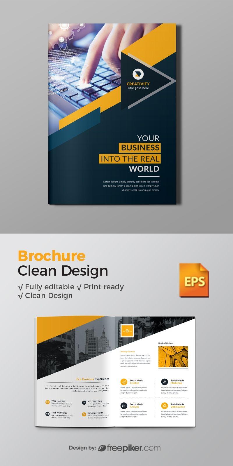 Corporate Bi Fold Brochure Brochure Psd Graphic Design Brochure Free Brochure Template