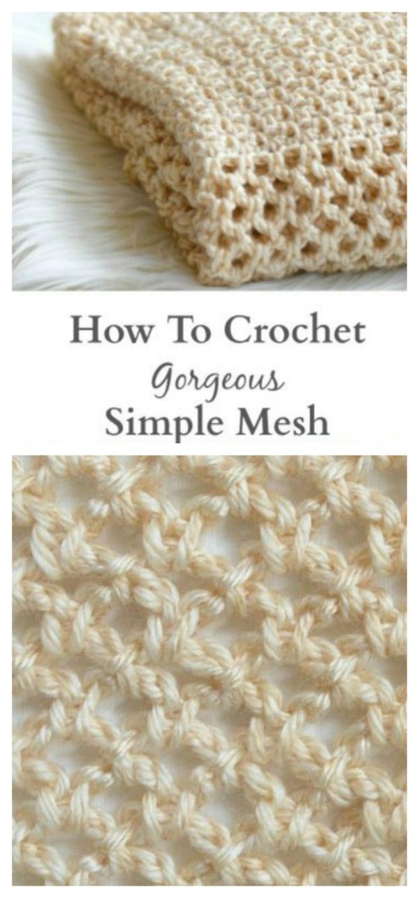 Crochet Mesh Stitch Learn With Pattern And Video Tutorial | Frazada ...