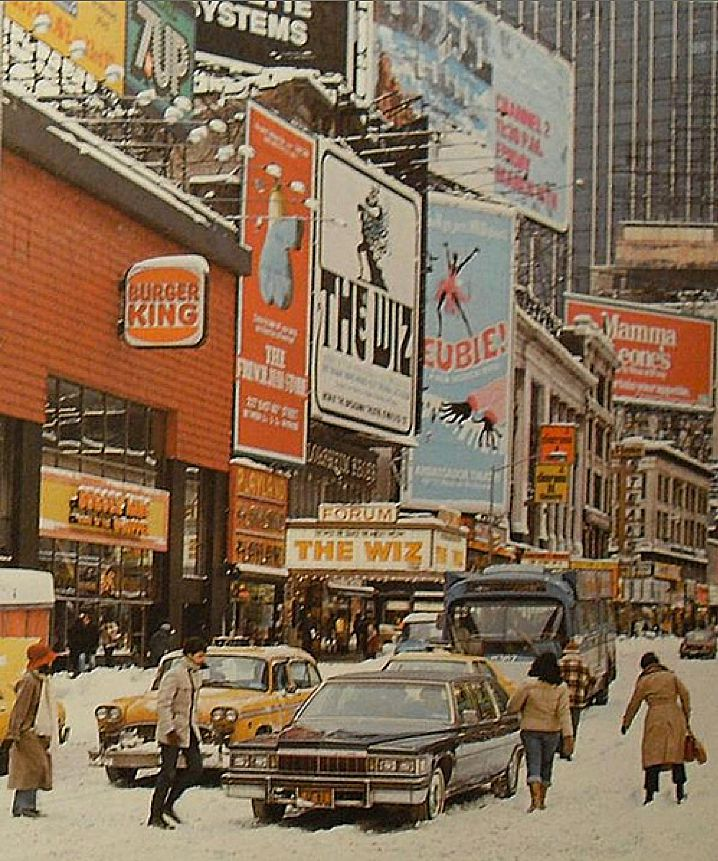 Times Square 1978 In 78 My High School Newspaper Staff Went Nyc