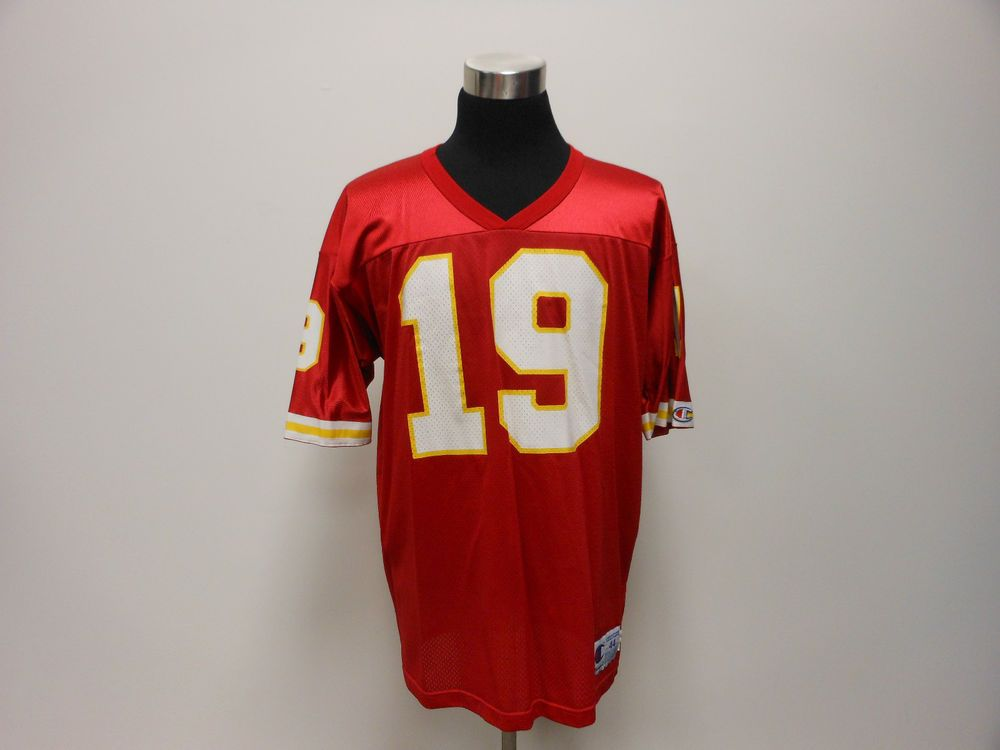 timeless design eeb52 a7bbb Vtg 90s Champion Kansas City Chiefs Joe Montana Football ...