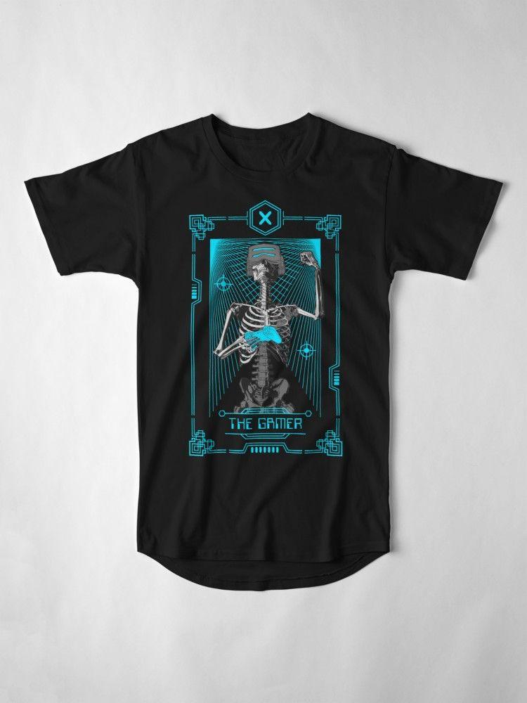 The gamer x tarot card long tshirt by grandeduc
