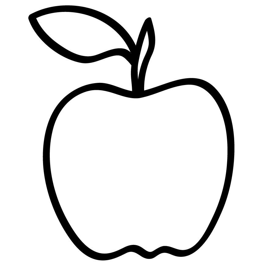 Apple Outline Template Apple Template Apple Outline Apple Picture