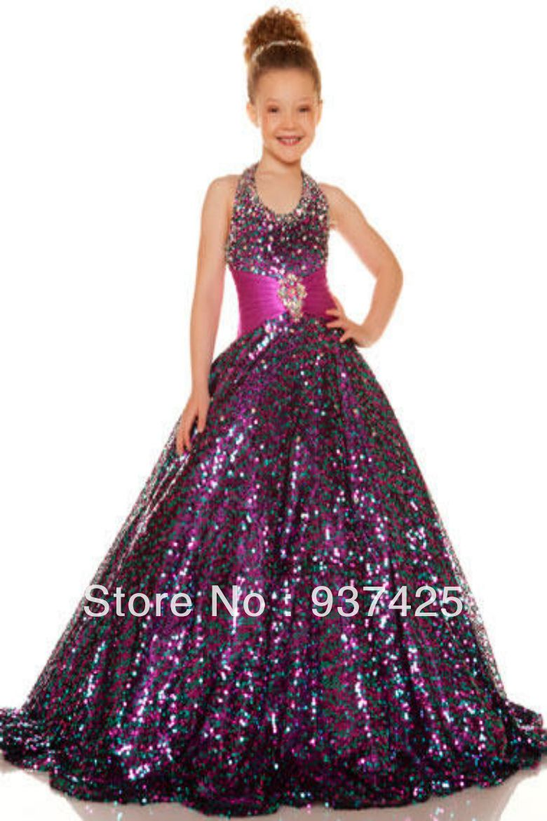luxury halter sash Sequins beads strass Wedding dress ball gown prom ...