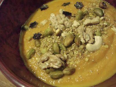 Soupe de carottes et son dukkah