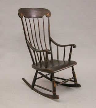 The Boston Rocker Is A Variation Of The Windsor Rocker, Developed Around  1840 In New England. It Has A High Back (several Spindles Extend Above The  Main ...