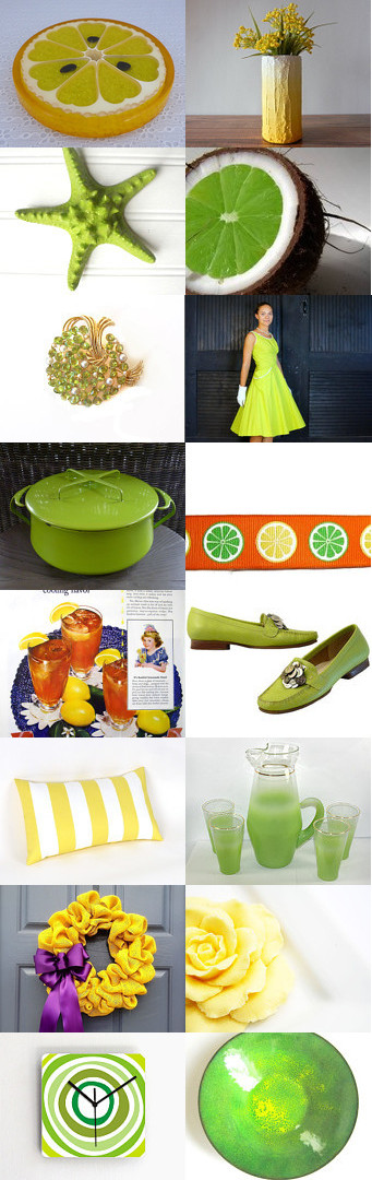 LEMON LIME for Kae by Maggie Schnabel on Etsy--Pinned with TreasuryPin.com