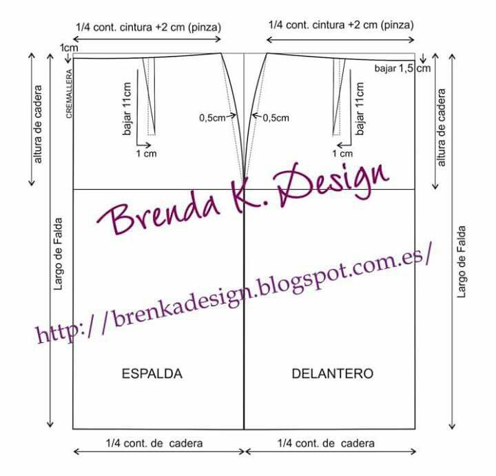 c56b79228 Patron falda base | kalıp | Patrones, Como hacer una falda y ...