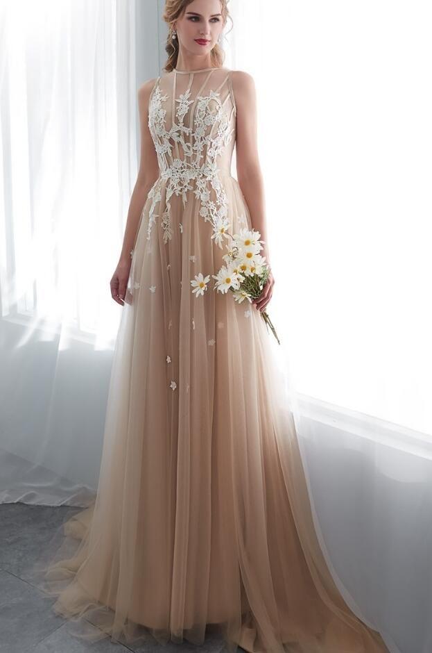 95e8fd262e4 Champagne Prom Dresses
