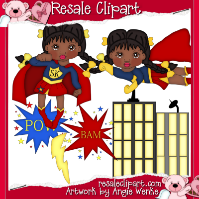 supergirl inspired clip art graphics by resale clipart super rh pinterest com free resale clipart primsy resale clipart