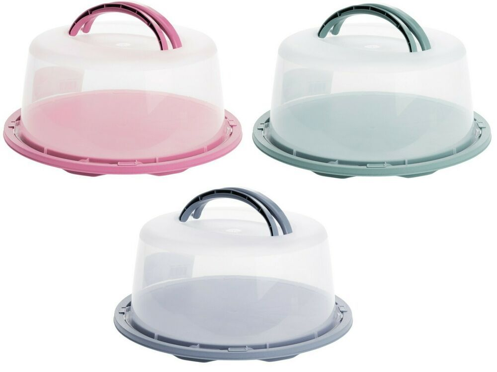 Cake carrier large lockable plastic cake storage container