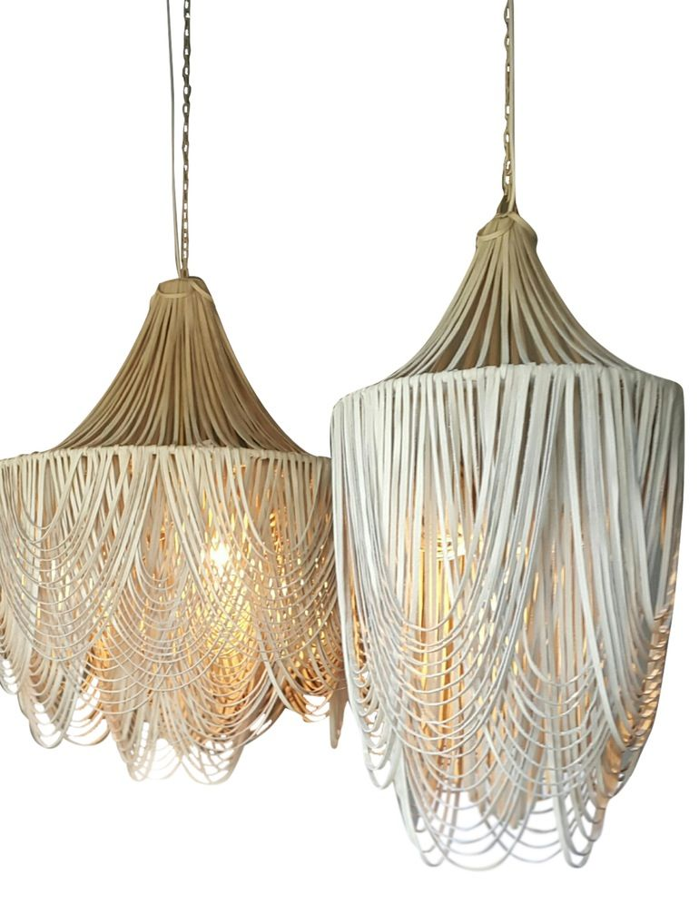 Whisper Leather Chandelier Contemporary Organic Leather Chandelier