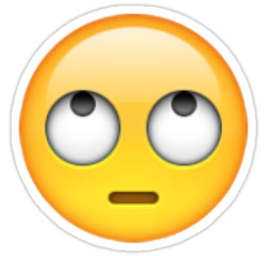 Eye Rolling Emoji Sticker By Ctnjflmt Emoji Stickers Eyes Emoji Boring Emoji