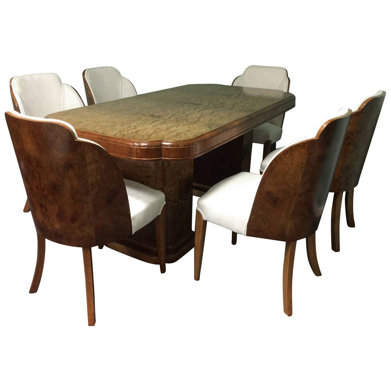 Art Deco Dining Table And Six Chairs Harry And Lou Epstein