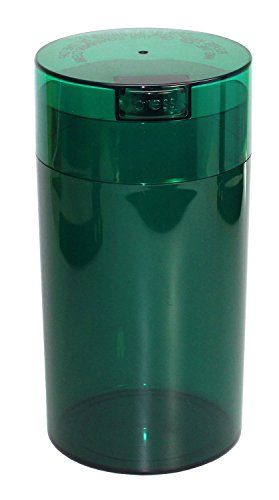 Tightvac 12ounce Vacuum Sealed Dry Goods Storage Container Emerald Tinted Bodycap See This Great Product Storage Containers Vacuum Sealing Medical Herbs