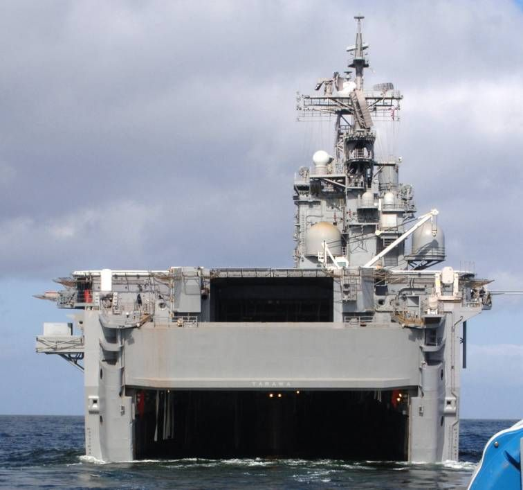 Uss Tarawa Lha 1 Amphibious Assault Ship Tarawa Class In 2020 Uss Tarawa Tarawa Us Navy Ships