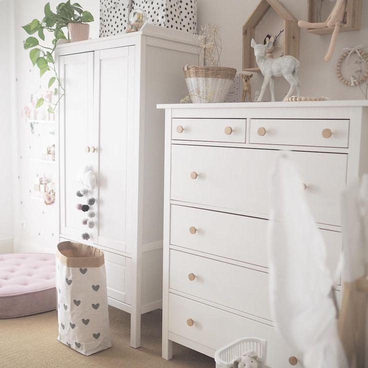 Kinderzimmer Inspiration Kleiderschrank Altrosa Weiss Vintage Kommode Ikea Paperbag Petite Voyou Wandst Baby Room Furniture Kid Room Decor Kids Room Inspiration