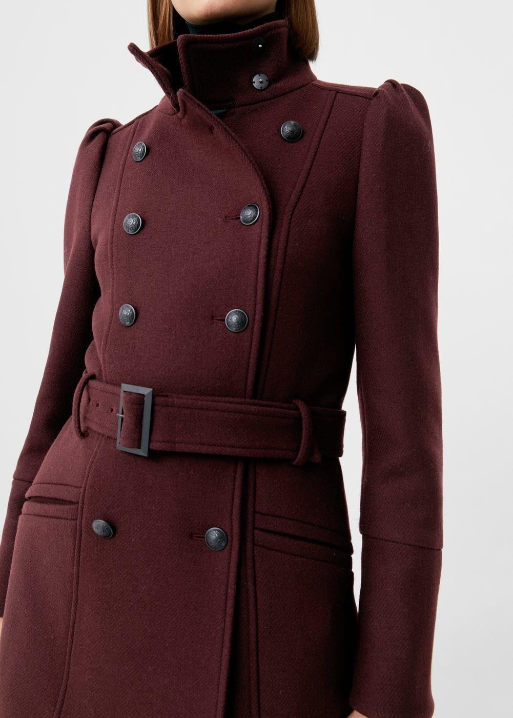 e64e47064 Puffed-shoulder wool coat - Women