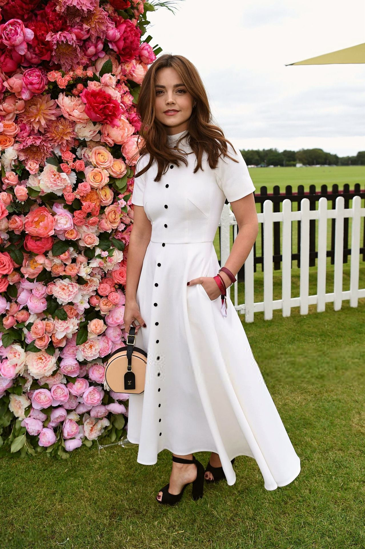 Flowers seem to follow Jenna Coleman around wherever she goes this