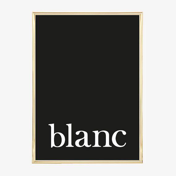 Design Poster, Print, Digitaldruck, Minimalistisches Poster, Wandbild - Blanc