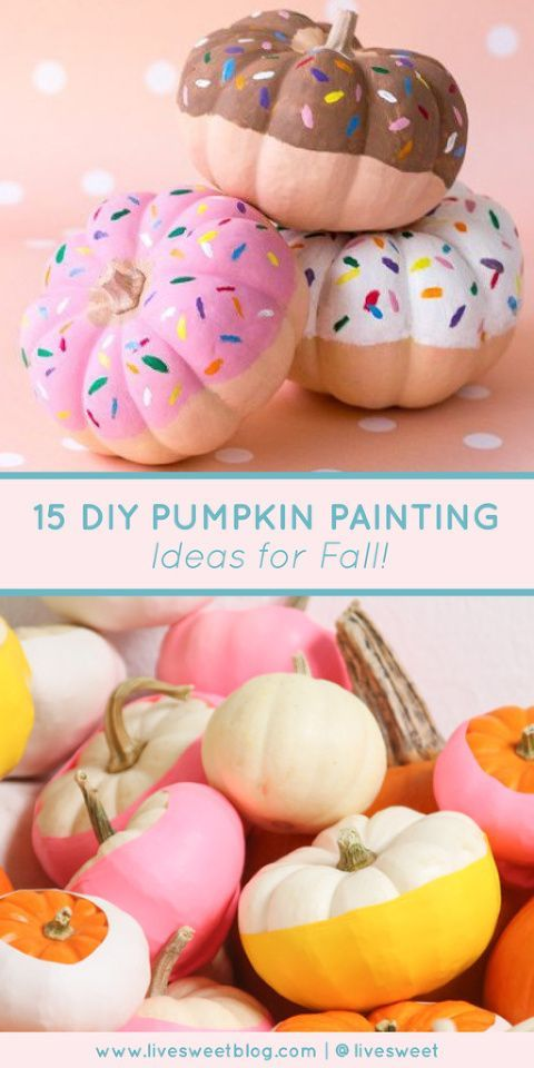 15 DIY Pastel Pumpkin Painting Ideas for Fall! #pumpkinpaintingideas 15 DIY Pumpkin Painting Ideas for Fall | Looking for some ideas on how to incorporate all of the sweet pastel colors into your fall decorating? Check out this list of our all-time favorite DIY pastel pumpkin painting ideas to help you get creative this season! || Live Sweet #falldecor #pumpkins #diycrafts #fallcrafts #livesweet @livesweet
