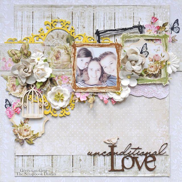 "Gerry van Gent: ""Unconditional Love"" Layout Kit for The Scrapbook Diaries"