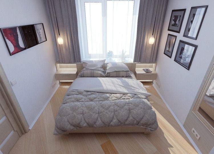 heller Laminatboden und Deko in Grau und Weiß fürs Schlafzimmer - Deko Für Schlafzimmer