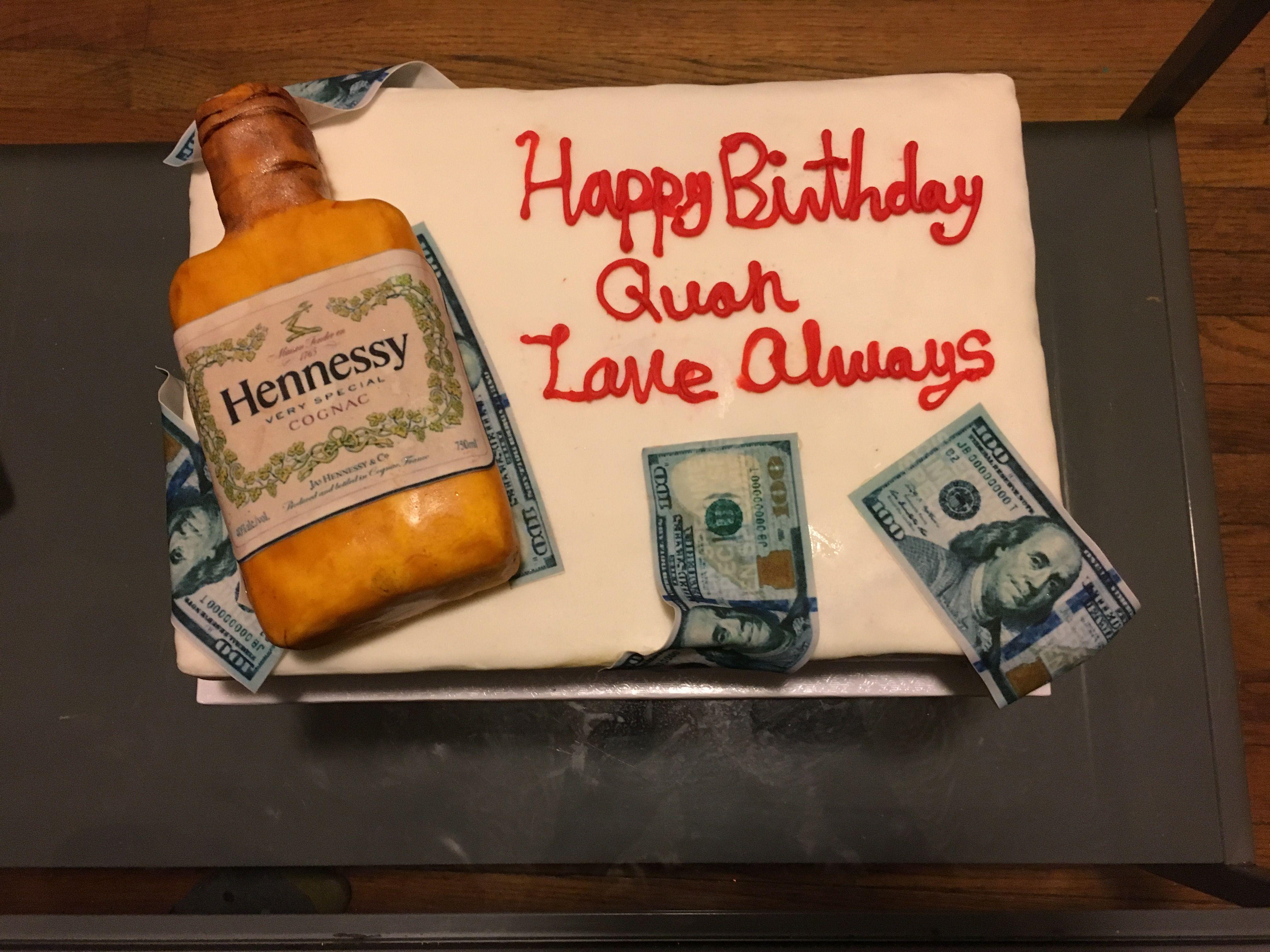 Hennessy birthday cake Bakery, Bithday, Birthday cake