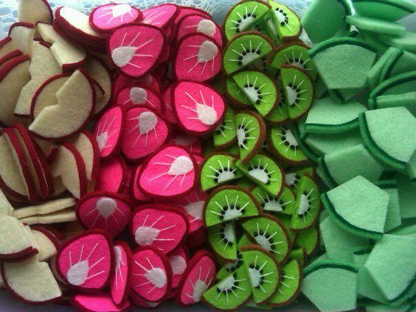 Apple-Strawberry-Kiwi-Melon Slice Felt