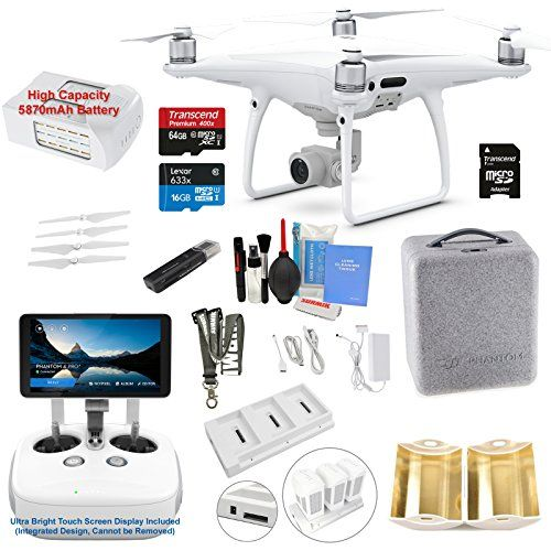 Dji Phantom 4 Pro Plus Pro Drone Quadcopter Remote W Integrated Touch Screen Display Bundle Kit With 4k Profess Professional Camera Drone Quadcopter Quadcopter
