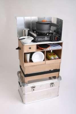 Mobile Outdoorküche in verschiedenen Ausführungen Ohne