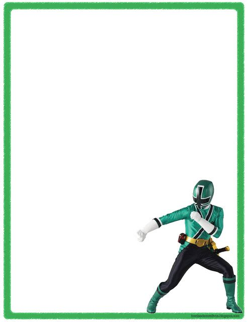 Bordes Decorativos: Bordes decorativos de hojas de Power Rangers ...