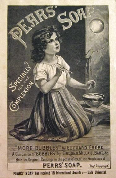 Victorian Girl Holding Doll Retro Home Wall Decor Poster