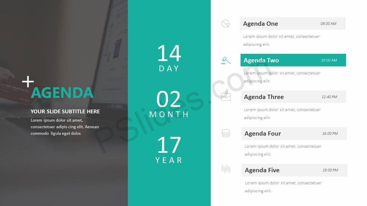 Agenda Powerpoint Template Make It Clear What Your Agenda Is With