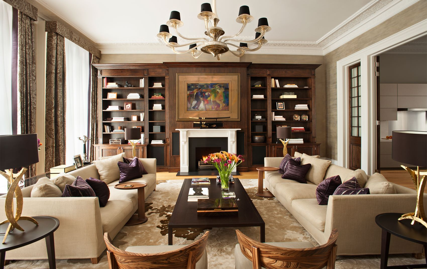 Kensington mansion flat gallery design lieux et int rieur for High end interior designers london