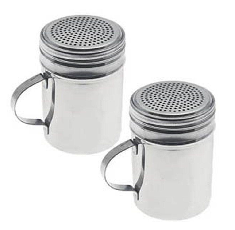 New Commercial Stainless Steel Salt / Pepper / Spice / Sugar Shaker, Shakers, Dredge, Dredges, Set of 2 : Amazon.com : Kitchen & Dining