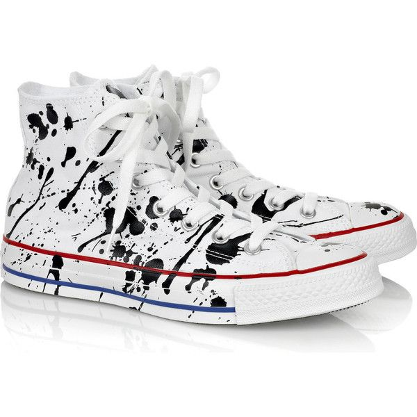 Converse Paint splatter canvas hi top sneakers | THE OUTNET