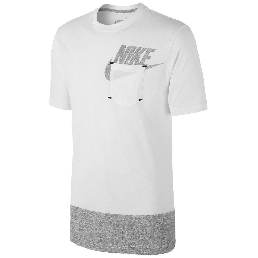 Nike Futura Tech Pack T-Shirt - Men s - Casual - Clothing - White Dark Grey  Heather Dark Grey Heather 1006dadae