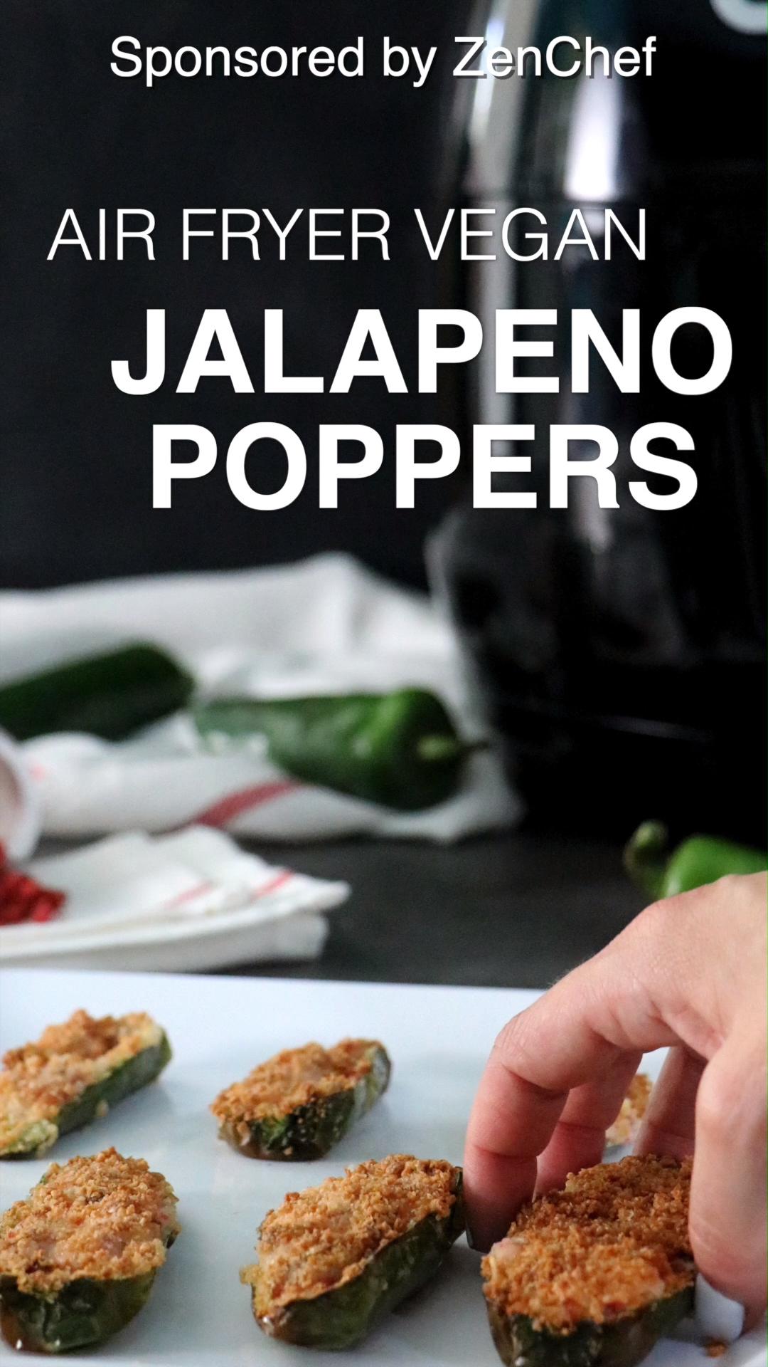 4 Ingredient Air Fryer Stuffed Jalapenos