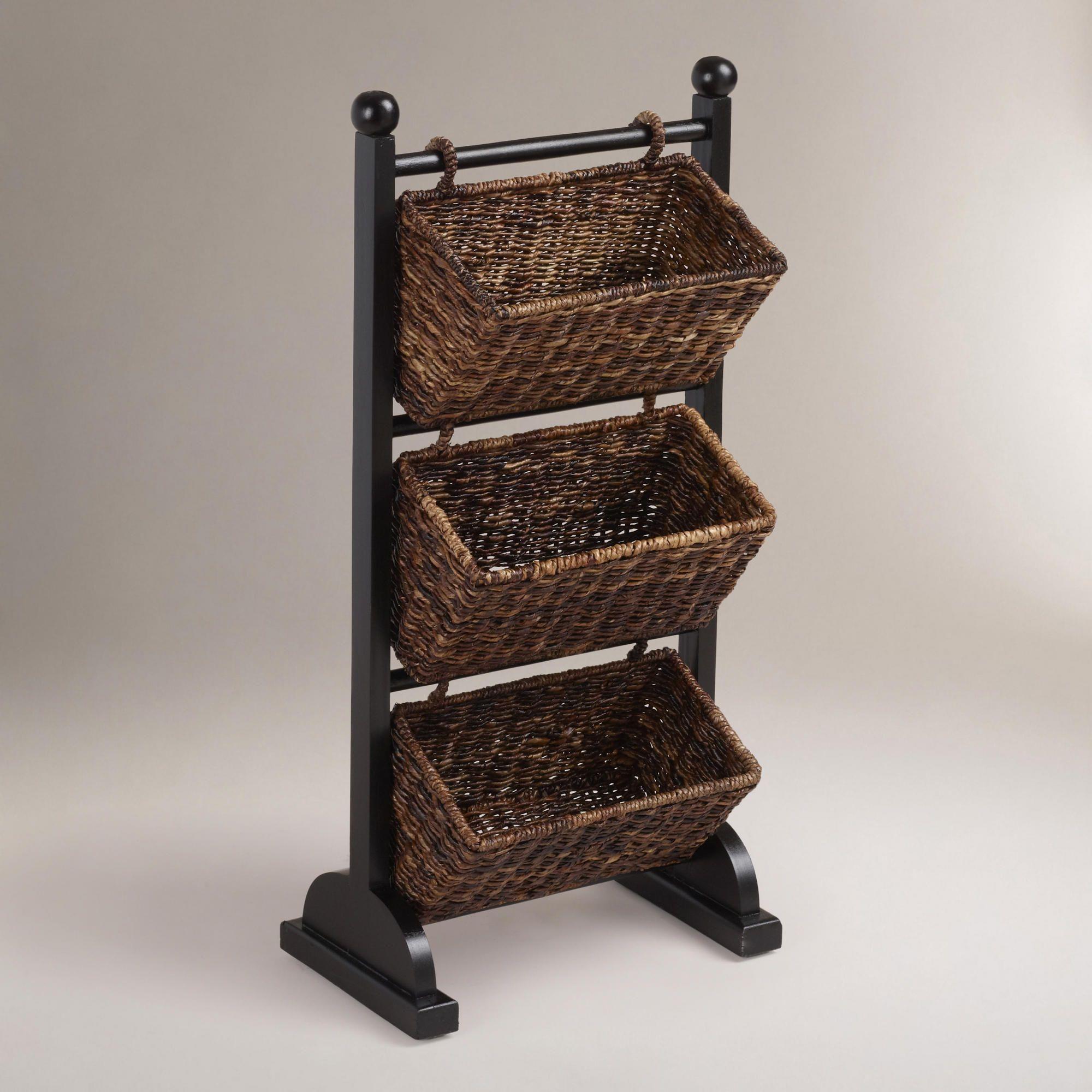 Madras Storage Baskets: 3-Tier Madras Cubby