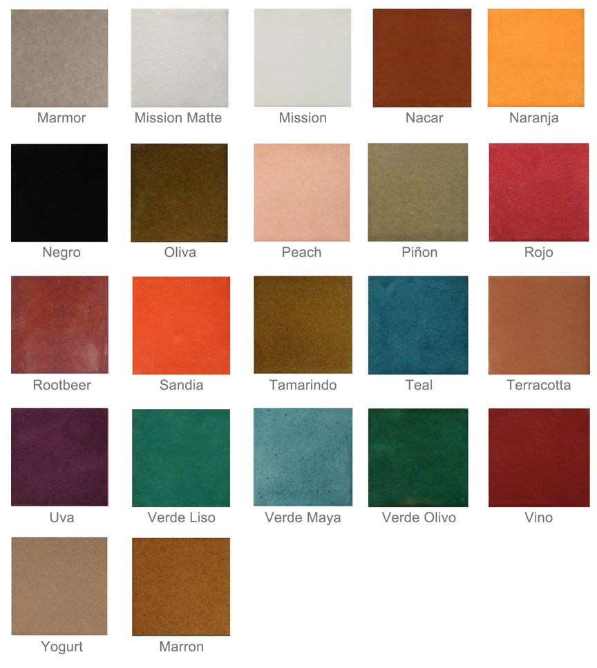 Color Tamarindo Mayan Tile Colors Mayan Color Bedroom Colour Palette