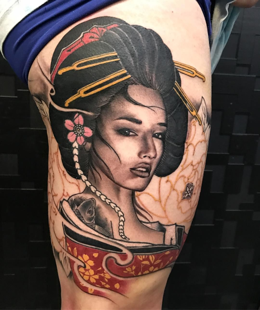 Geisha tattoo elegant geisha tattoo picture - Nice 55 Striking Geisha Tattoo Designs An Intelligent And Elegant Lady Check More At Http