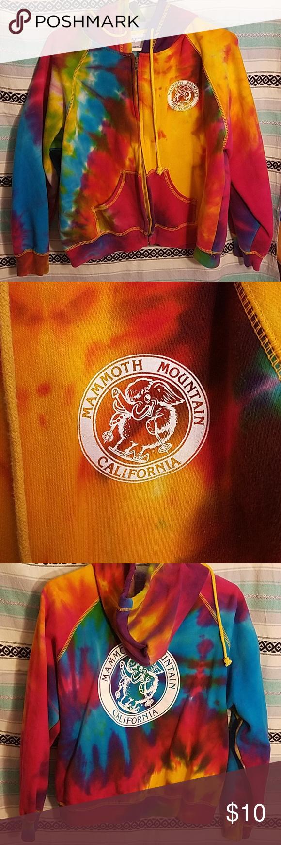 Mammoth Mountain California Tie Dye Sweatshirt Tie Dye Sweatshirt Line Jackets Tie Dye [ 1740 x 580 Pixel ]