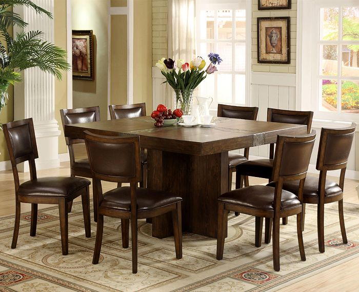 Kitchen Square Dining Room Table, White Dining Room Table Seats 8