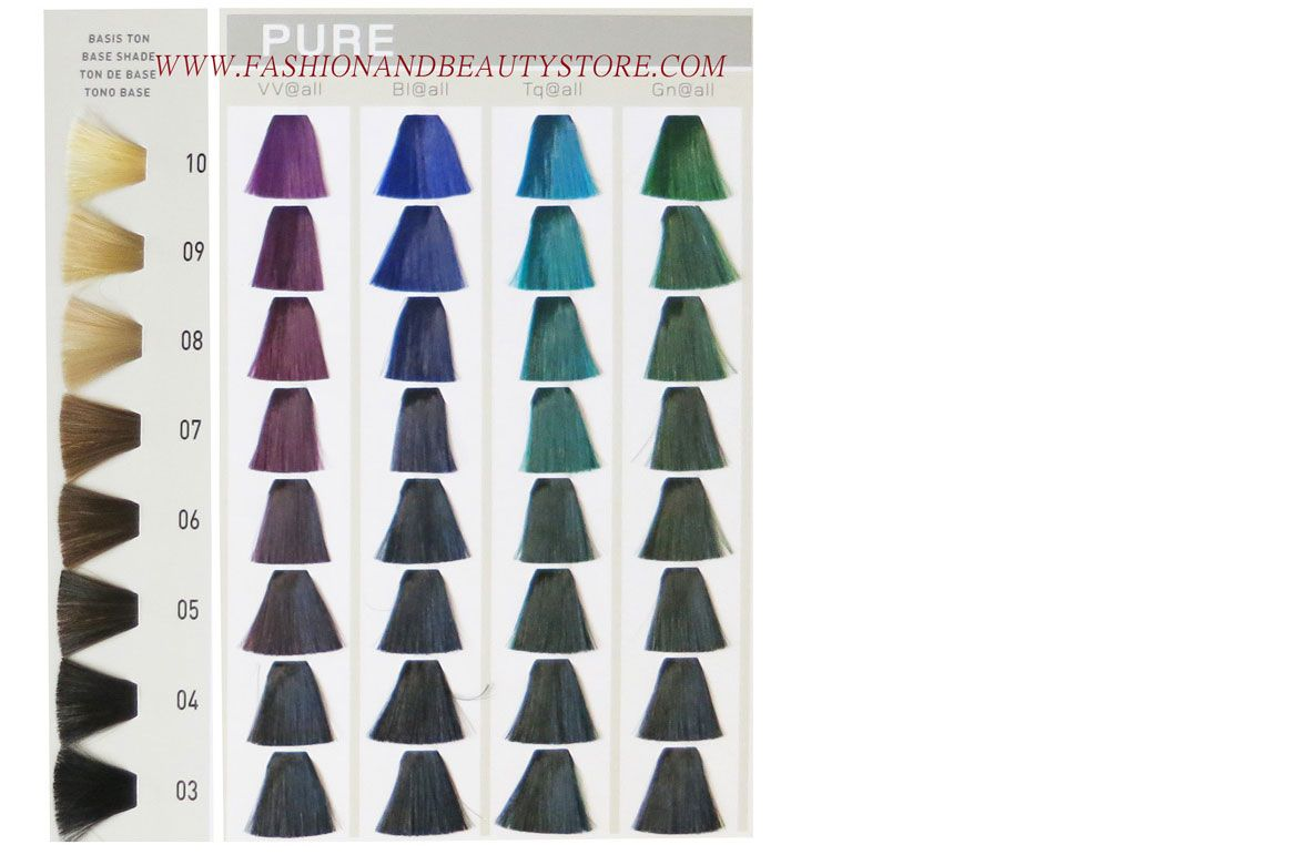 Goldwell Elumen Color Chart Part 5