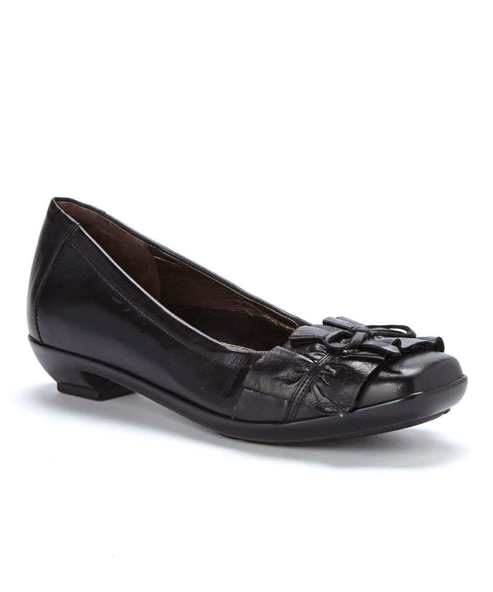 Look what I found on #zulily! 1803 Shoes Black Alma Leather Kitten Heel by 1803 Shoes #zulilyfinds