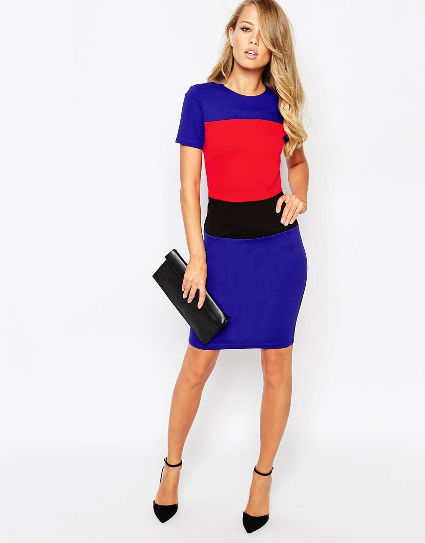6680d0085b4 Image 4 of French Connection Lula Stretch Color Block Dress