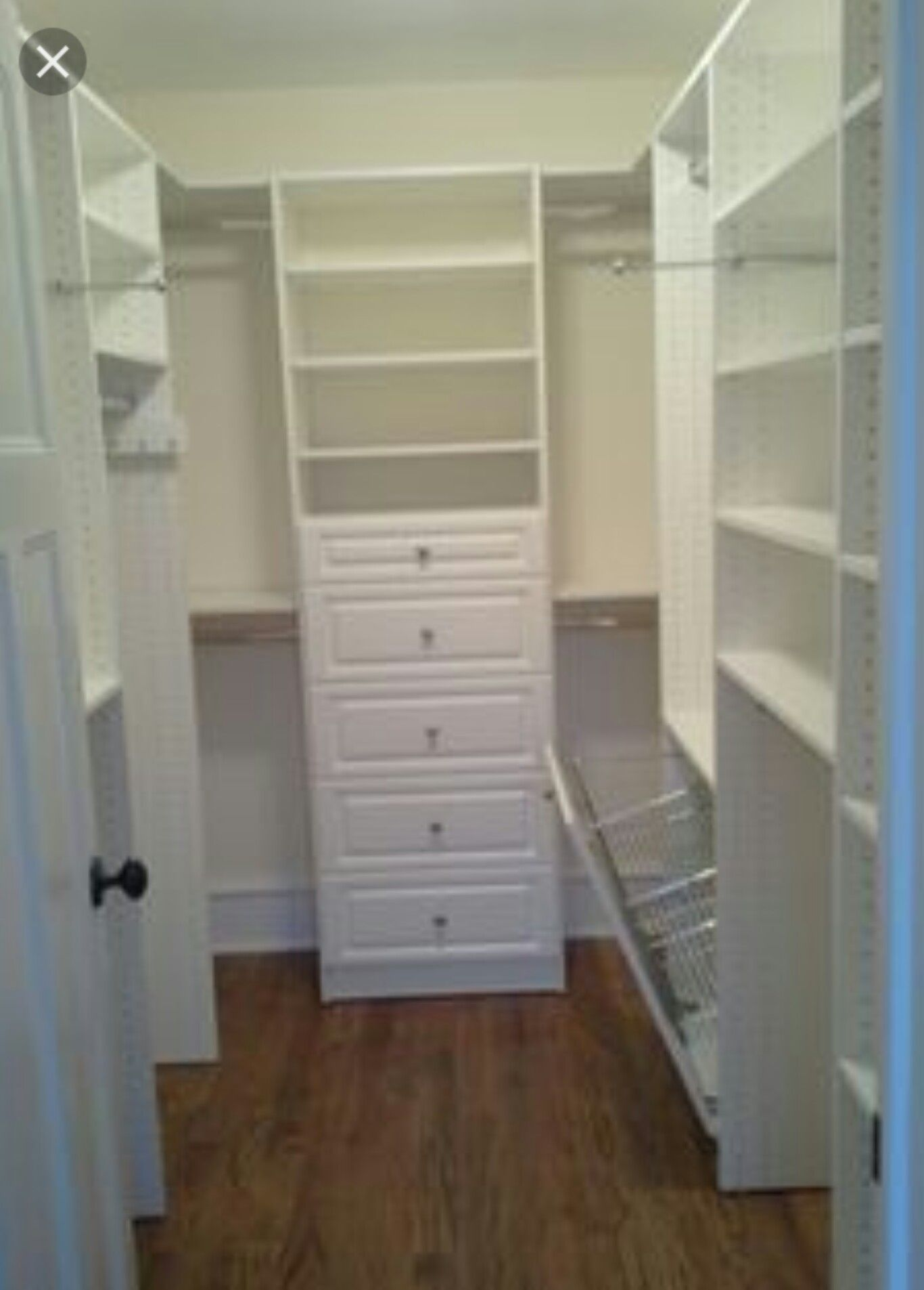 pin by tishia on home decor closet renovation closet on extraordinary small walk in closet ideas makeovers id=60084