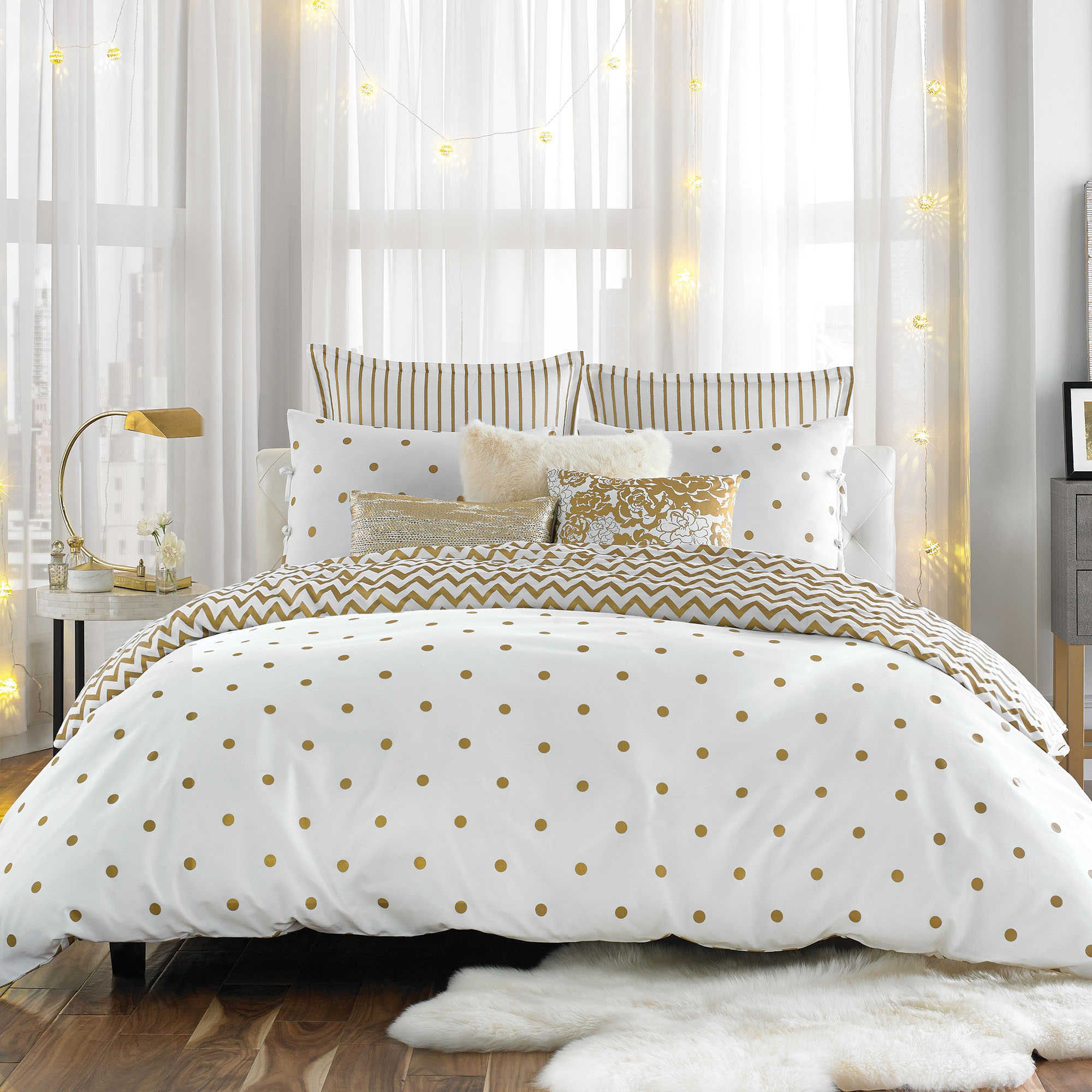 Anthology Gold Glam Twin Twin Xl Comforter Set Comforter Sets White And Gold Bedding Luxury Bedroom Decor