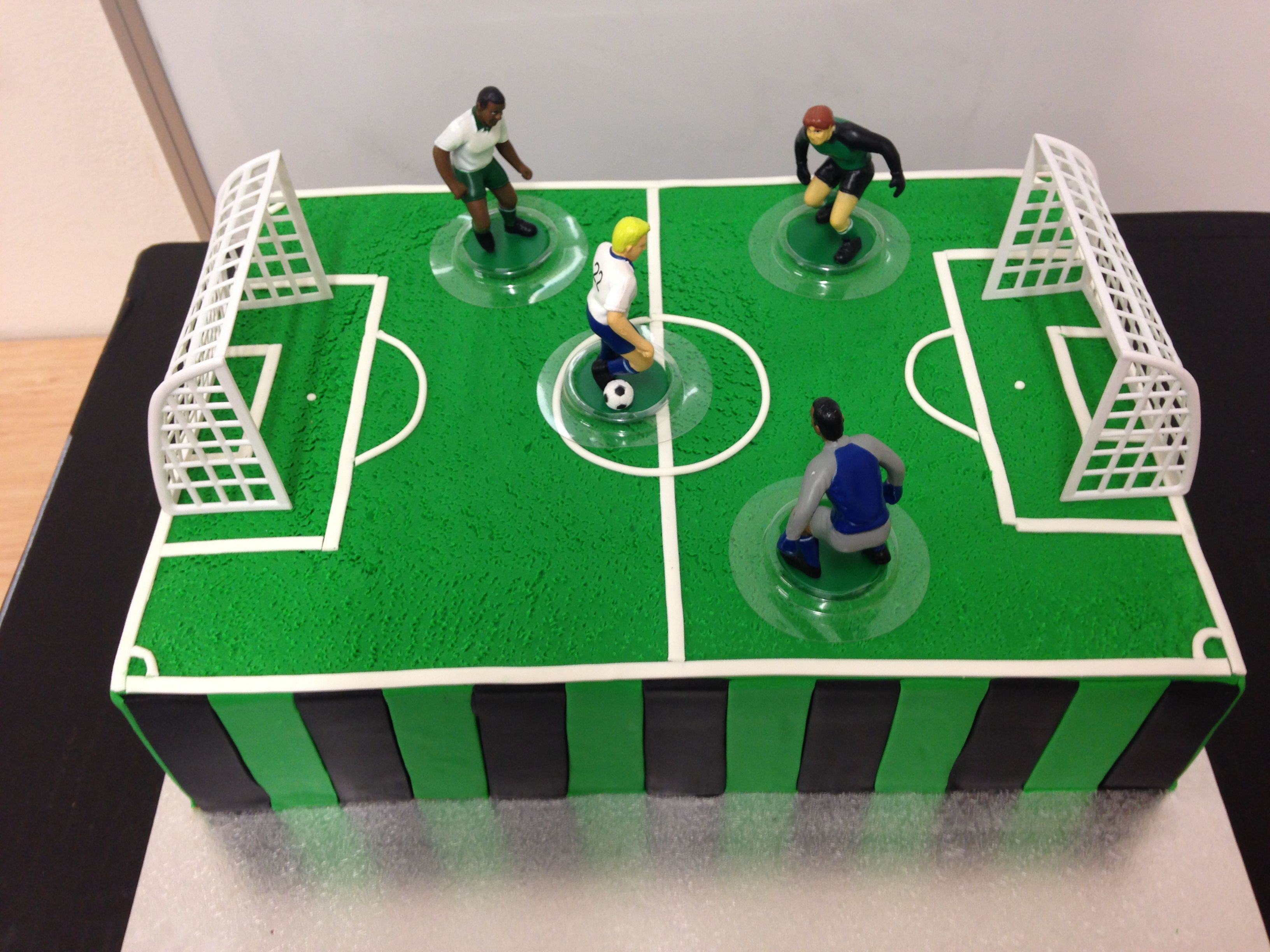Soccer Cake With Images Soccer Cake Football Field Cake
